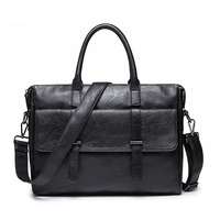 GUMST Brand Men Laptop Bag Briefcase Fashion Men S Business Bags Casual Leather Messenger Bag For