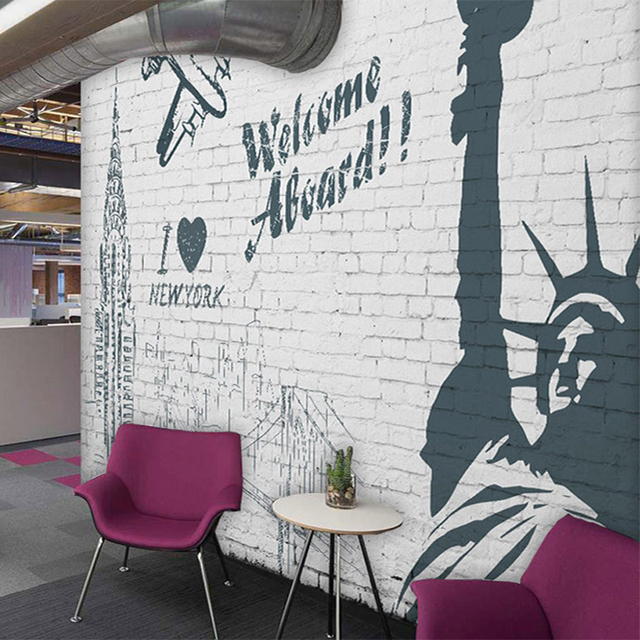 Custom Mural Wallpaper Wall Painting Advertising Welcome To New York