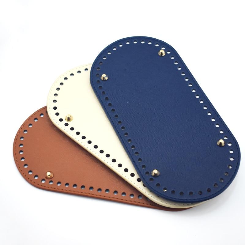 25*12cm New Oval Long Bottom ForKnitting Bag PU Leather 60 Holes Women's Bag Handmade DIY Craft Accessories KZBT008 KZBT010