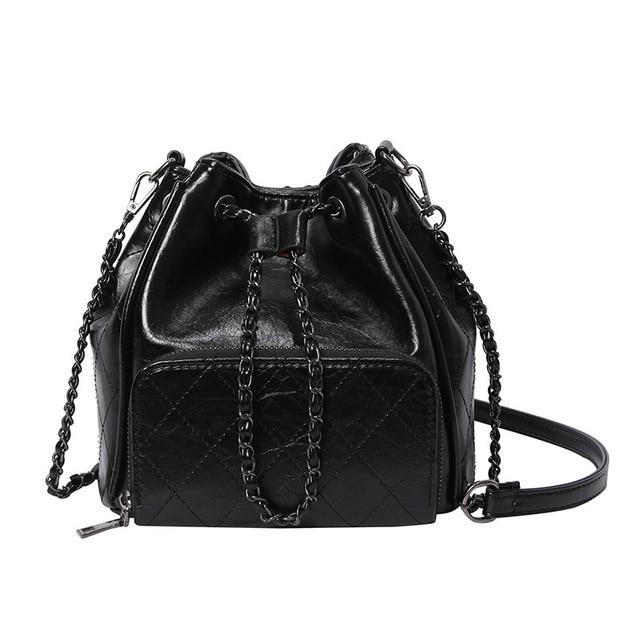 Designer Brand Women Bucket Bag Fashion Plaid Shoulder Bags High Quality Rivet Messenger Bags Crossbody Bag bolsa feminina