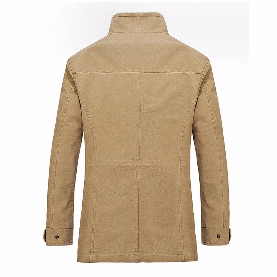 Veste Hiver Outwear Rue Poches green Zipper Homme Coton Mince Automne Printemps Wear Hommes Mâle Vert Casual Kaki 100 Black Noir khaki Tranchée xa8OE8