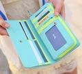 Marca Novo 2015 Moda Pomba Mulher Bolsas de Projeto Longo PU Multi-Posição Do Cartão Carteira Portefeuille Billeteras Carteiras das Mulheres