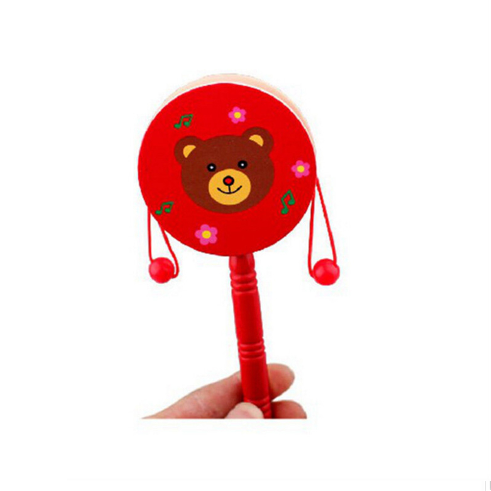 Musical Educational Children Rattles Wooden Clown Hat Baby Toys Rattle Toys