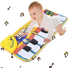 1 PCS Baby Music Carpet Baby Music Play Mat Early Learning Educational Baby Kid Child Piano Music Plat Mat Gift 72*29cm(China)