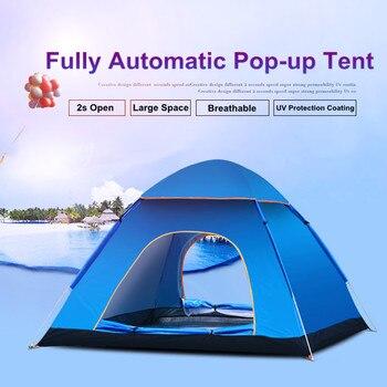 Tenda da campeggio UV di Protezione 2 porte 2-3 Persona Automatico Rapido Up Riparo Esterno di Sole-ombreggiatura Ultralight di Ventilazione Impermeabile
