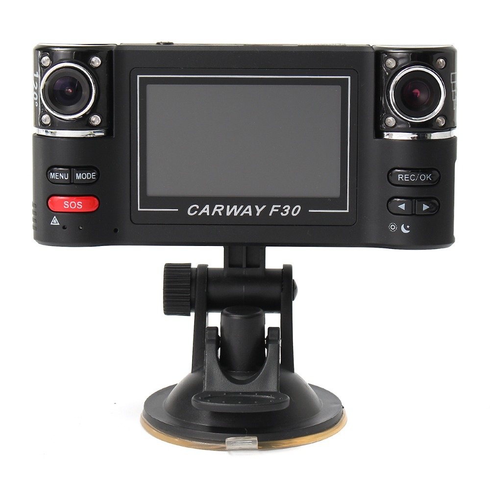 1080 P Ночное видение Видеорегистраторы для автомобилей 2.7 TFT ЖК-дисплей HD поворачивается Двойной объектив тире Камера цифровой видео Регистр...