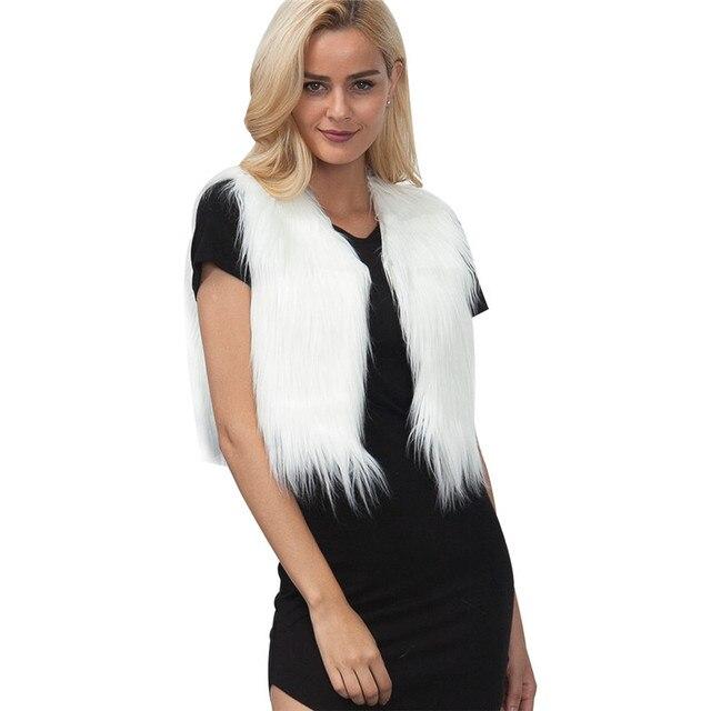 Tay Womens Luxury Rabbit Fur Coat Áo Khoác Dày Ấm Faux Fur Vest Cộng Với Kích Thước Phụ Nữ Giả Lông Thú Gilet Fourrure Femme 3XL