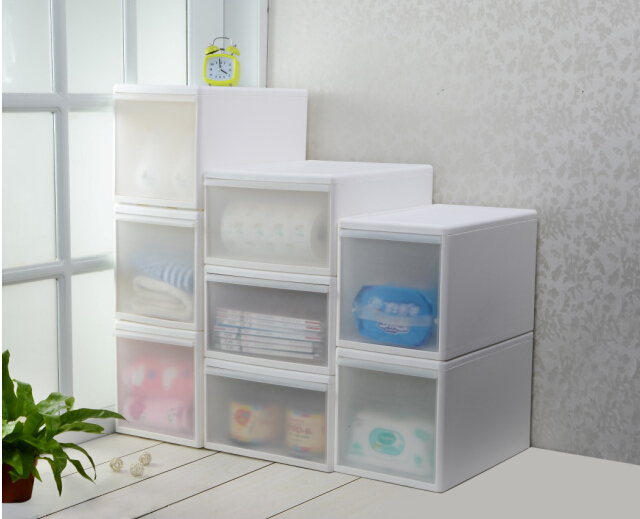 Drawer Storage Cabinet Storage Box Plastic Single Tier Drawer Cabinet  Storage