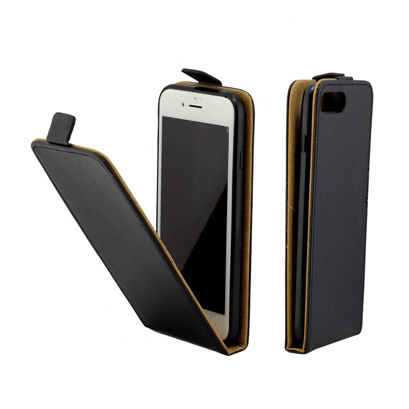 Business Leather Case For Coque iPhone 7 Plus Vertical