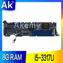 AK UX31A2 материнская плата для ноутбука ASUS UX31A UX31 Тесты Оригинал материнская плата 8G Оперативная память i5-3317U REV4.1