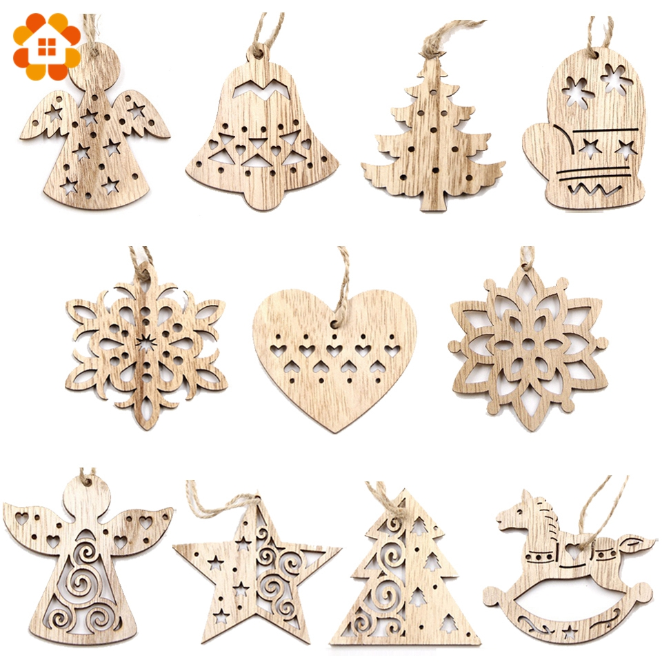 Aliexpress.com : Buy 10PCS Lovely Vintage Christmas Wooden