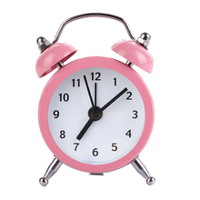 New Mini Round Alarm Clock Desktop Table Bedside Clocks Kids Adults Travel Clock Decor .