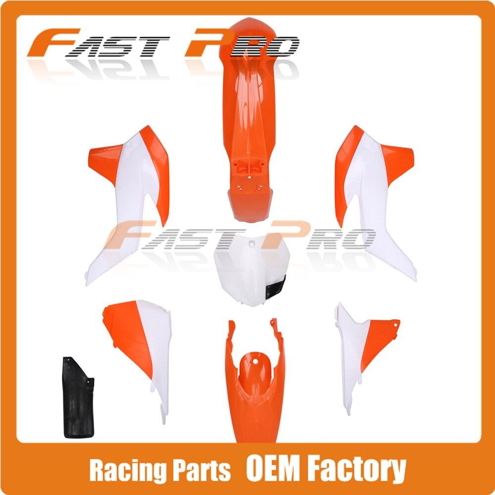 Complete Body Plastics Kits For KTM SX125 SX150 SX250 SXF250 SXF350 SXF450 2013 2014 Dirt Bike Motocross Enduro Supermoto