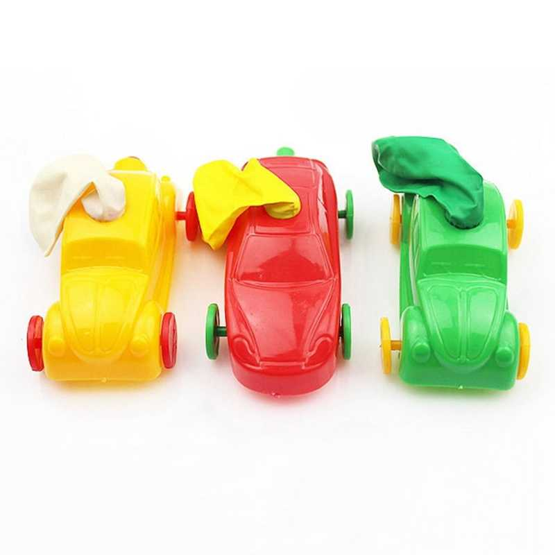 Children Gifts Aerodynamic Forces Inflatable Balloons Car Toy Funny Inertial Power Reminiscent Balloon Car Toys Random Color
