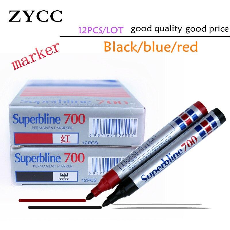 Permanent MarkerPen Kapazität Schwarz Rot Blau Kunststoff Ölig Wasserdicht