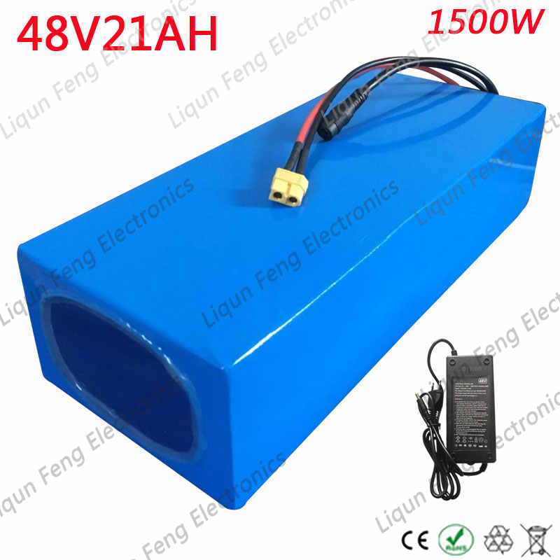 48V 1500W Battery 48V 20AH Lithium ion battery 48V 21ahScooter Battery 48v 20ah Electric Bike Battery With 54.6V 2A Charger