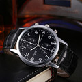 New Luxury Fashion Date Faux Leather Unisex watch Stainless Steel Dial Relogio Masculino Quartz Cool Men Watches clock 2017