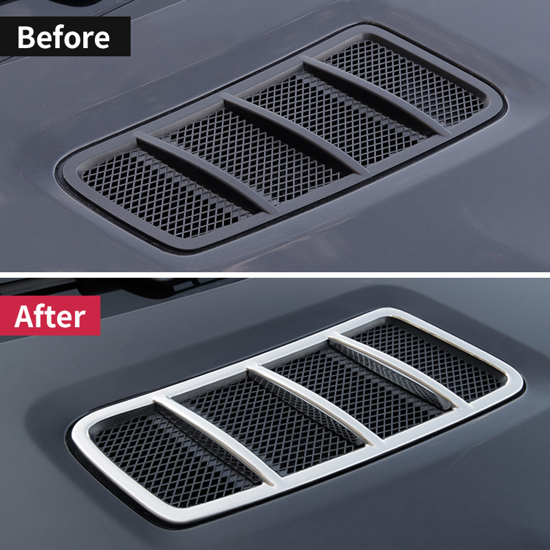 Front engine exhaust trim For Mercedes Benz gle coupe c292 amg w166 350d ml350 2012 gl 320 450 x166 gls interior accessories in Car Stickers from Automobiles Motorcycles