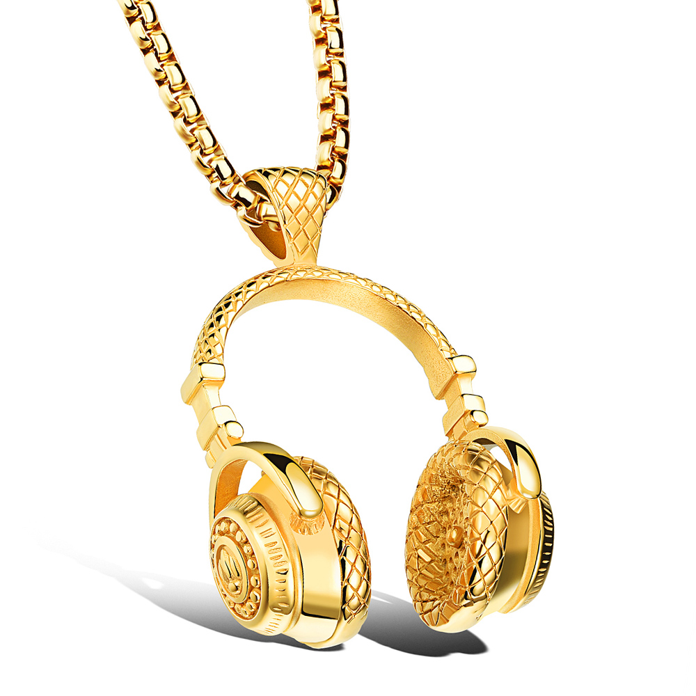 Hip hop headphone necklace 1
