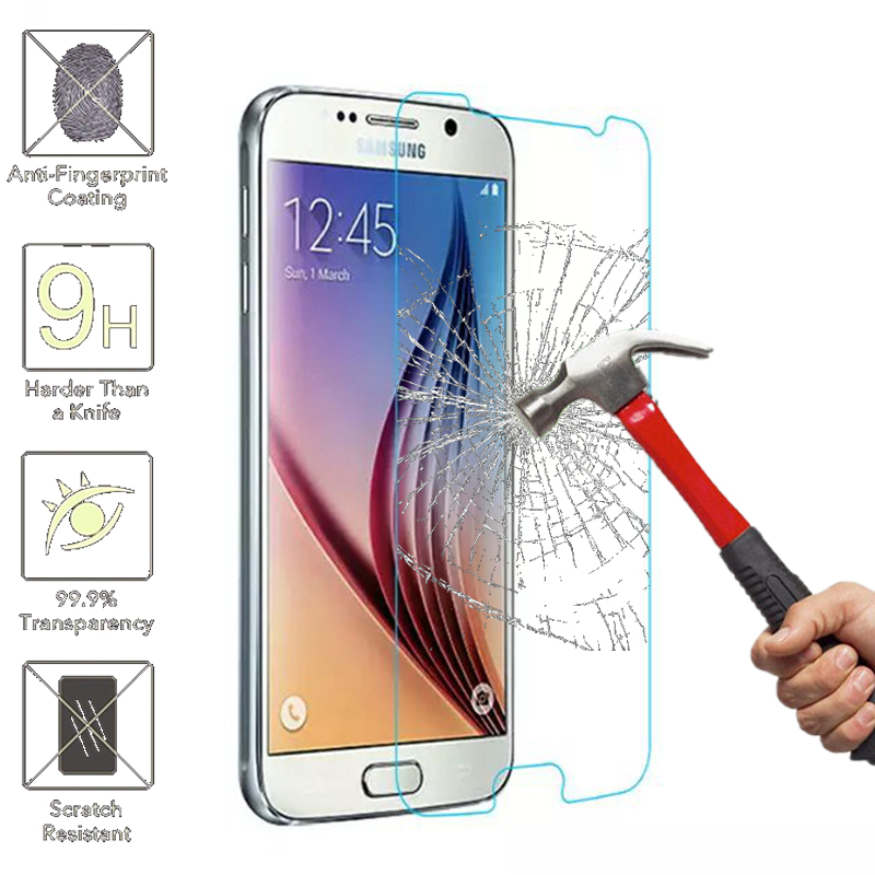 Able Tempered Glass Screen Protector For Samsung Galaxy S6 S5 S4 S3 Mini A3 A5 A7 A8 J1 J3 J5 J7 2016 Grand Prime Protective Film Phone Pouch
