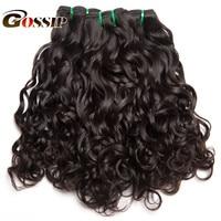 Gossip Hair Extensions Water Wave Brazilian Hair Weave Bundles 1PC 100 Human Hair Bundles Natural Color