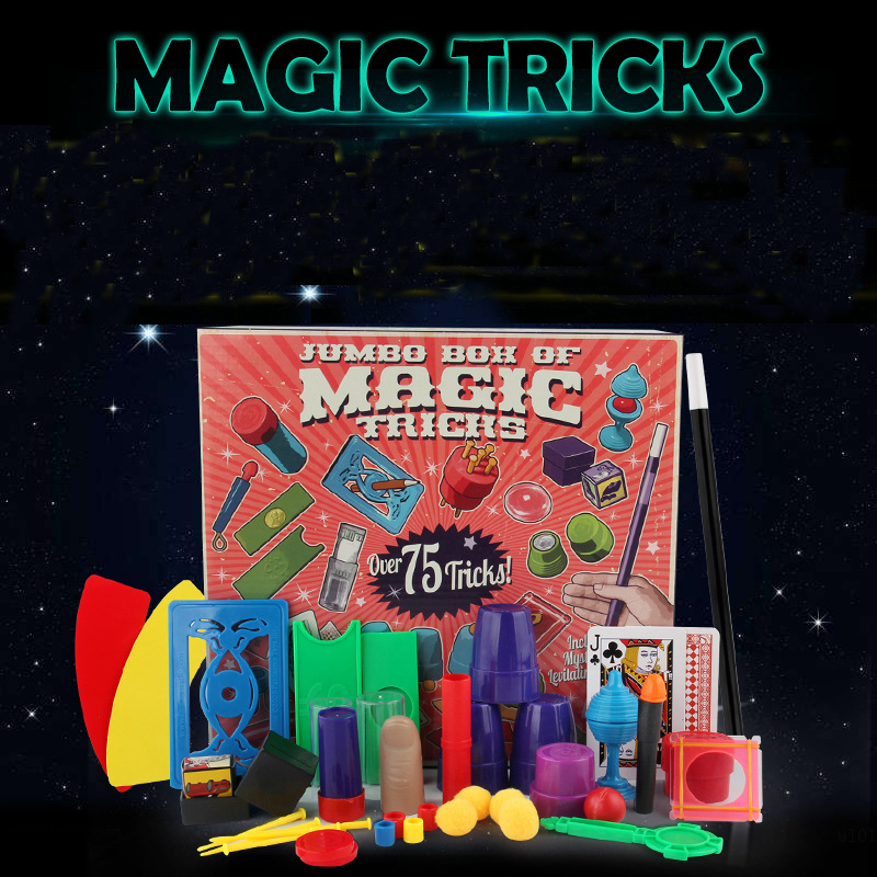 Classic Toys Magic tricks  profesional  set spree magic card poker children close-up stage performance gift box small toys