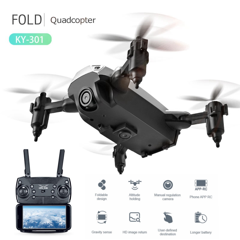 Mini Drone With HD Camera Folding Quadcopter Selfie dron Fpv Altitude Hold Remote Control rc Helicopter ky301 vs jjrc H47 H37 jjrc h39wh drones with camera hd fpv dron folding quadrocopter rc helicopter wifi selfie quadcopter remote control helicoptero