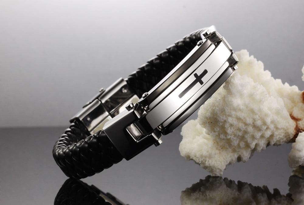 Vintage Leather Wrap Bracelet For Man Fashion Handmade Knitted Bangle - Fashion Jewelry - Photo 6