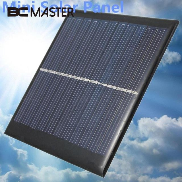BCMaster Mini 6V 1W Solar Panel Supply Power Panel Module DIY Battery Cell Phone Toys Chargers Portable Solar Cells Charging