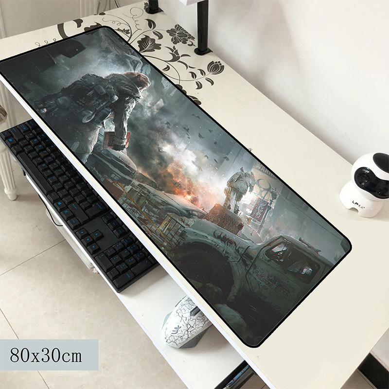 Tom Clancy's The Division Mouse Pad 800x300x2mm Mats Aestheticism Mouse Mat Gaming Professional Mousepad Keyboard Games Pc Gamer