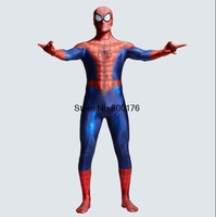 2017 Hot Sale Spiderman Costume 3D Print Cosplay Zentai Suit Spandex Male Comic Spider Man Superhero