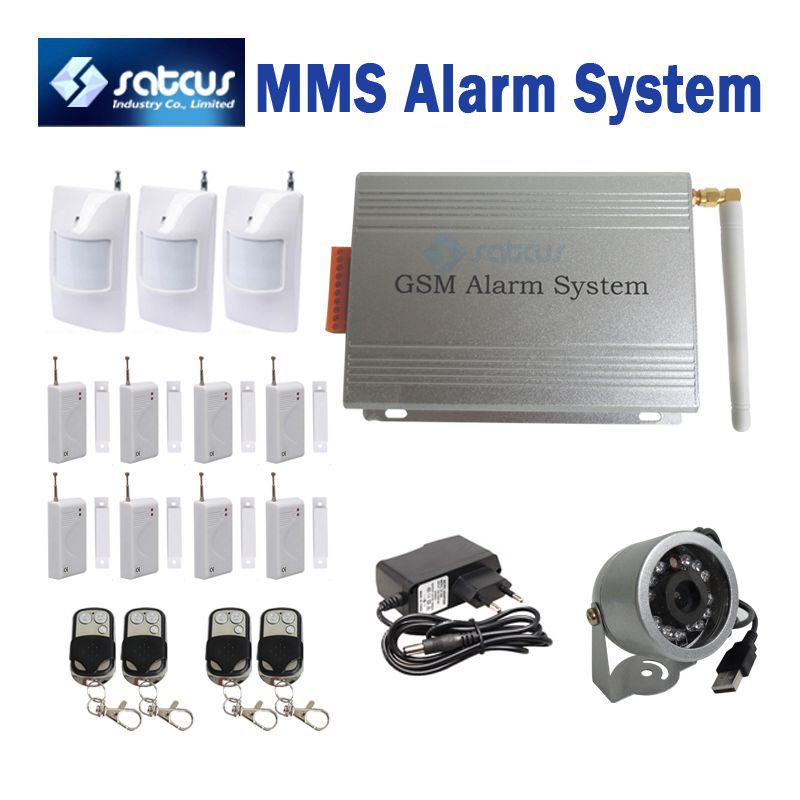 MMS DVR GSM Burglar font b Security b font Alarm System With MMS SMS Motion Detect