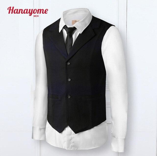 Hanayome новый индивидуальные соизволил смешанная синий цвет свадебные нагрудные жилет с двумя карманами куртка повседневная жилет платье VS39