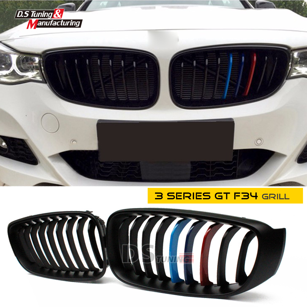 M-three color abs material  front mesh grill grille for bmw 3 series gt Gran Turismo f34 2012 13 14 15 16 model tryp gran via 3 мадрид
