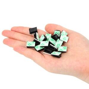 Image 5 - 40Pcs accessori interni cavo dati per veicoli per Auto cavi per montaggio su fascette Clip di fissaggio fissaggio automatico e organizzatore di Clip