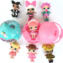 LOL Hot Surprise Doll Unpacking Dolls  Up Toys Surprise Eggs  Vinyl 3-6 Years Old 9.5 * 9.5 * 9.5cm 7Models Funny Gift for Dress
