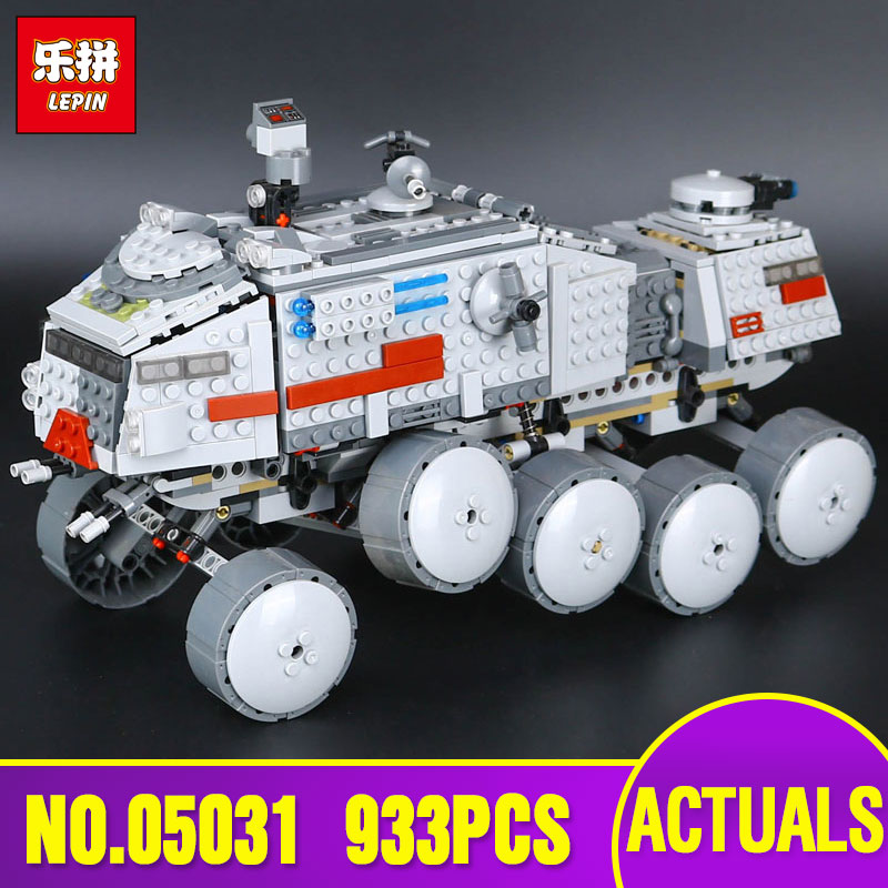 LEPIN 05031 Star series Wars Clone Turbo Tank 75151 Building Blocks Compatible with Legoing Toys model as Children Birthday Gift lepin 02012 city deepwater exploration vessel 60095 building blocks policeman toys children compatible with lego gift kid sets