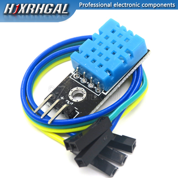 50PCS New Temperature and Relative Humidity Sensor DHT11 Module with Cable for arduino Diy Kit