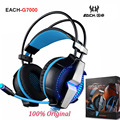 Each g7000 7.1 virtual surround sound usb vibration gaming headphone jogo headset headband fone de ouvido mic levou luz para pc gamer