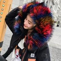 2017 Free Shipping Autumn Winter Women Work Wear Fashion New Female Short Down Fur Coat Cotton