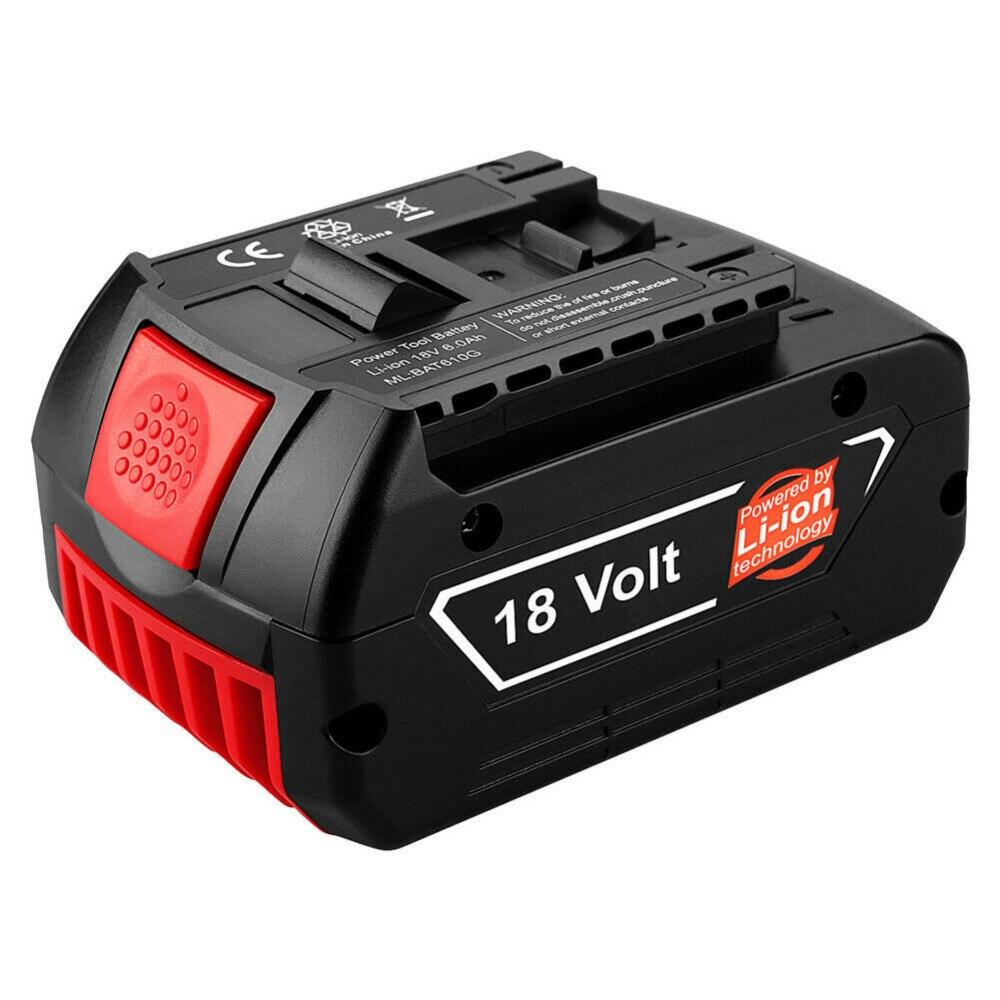 Pour Bosch 18V 6000mAh outils électriques batterie Batteries rechargeables Pack sans fil pour Bosch perceuse BAT609 BAT618 3601H61S10 JSH180