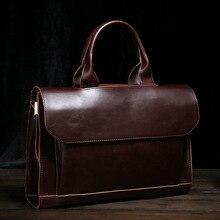 2016 New High Quality Vintage PU Leather Handbag Luxury Men's Briefcase Bag Fashion Designer Handbags Famous Brand Business Bag