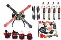 Naza M Lite Flight Controller Board w/ PMU Module & LED & M8N GPS+F450 450mm PCB Version Quadcopter Rack Frame Kit 9450Props