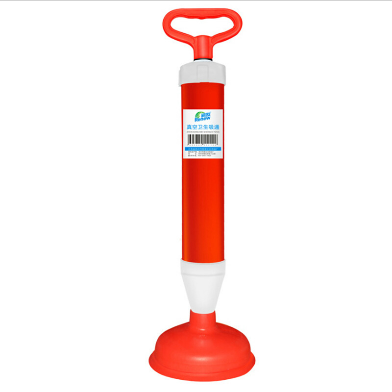 Powerful rubber Toilet Plunger with Rubber Sucker For Toilet Dredger Clean Vacuum sewer dredger with Stainless steel rods