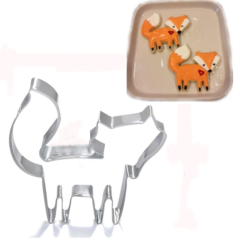 New design funny cute cute fox cookie cutter fondant for Cookie cutter house plans