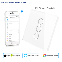 Mini Wifi Smart Wall Touch Switch EU Power Mobile APP Remote Control Works With Amazon