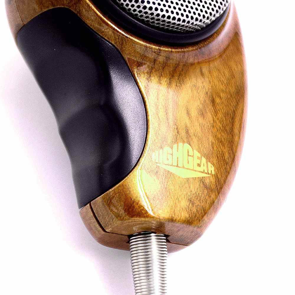 HG-M84W Microphone Woodgrain Noise Canceling Speakers for Cobra CB Radio  most ergonomic 4 Pin Connector elegant Ham Mic