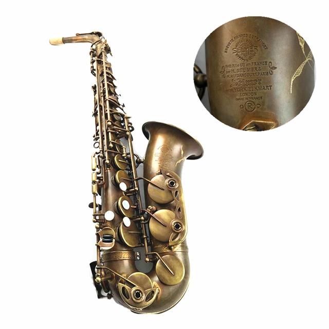 Custom Salmer MARK VI Alto Saxophone E Flat Antique Copper Simulation with Case Accessories Alto Sax Brass Music Instruments