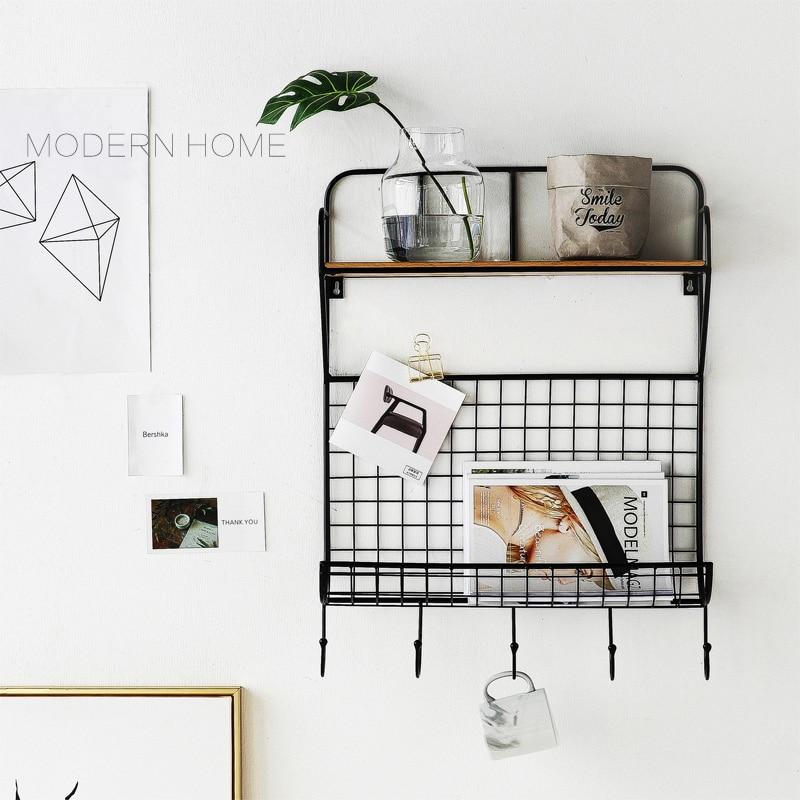 Modern Design Wall Mounted loft metal wood display show