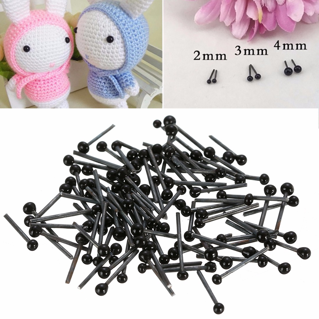 4mm x 2 pairs Glass eyes for needle felting 2mm x 2 pairs 3mm x 2 pairs